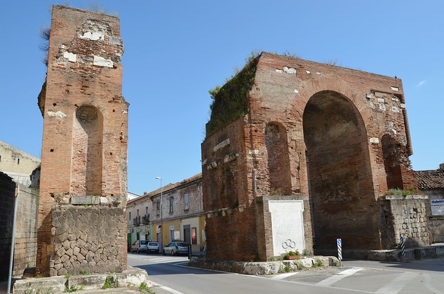 The Arch of Hadrian spanning the Appian Way, Northern side, Capua