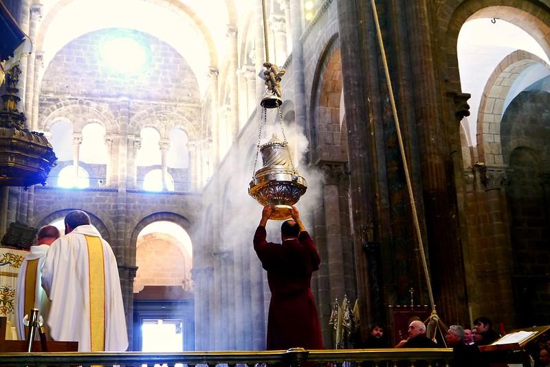 pilgrim's mass in Santiago de Compostela