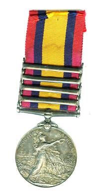 South Africa medal for The Boer War