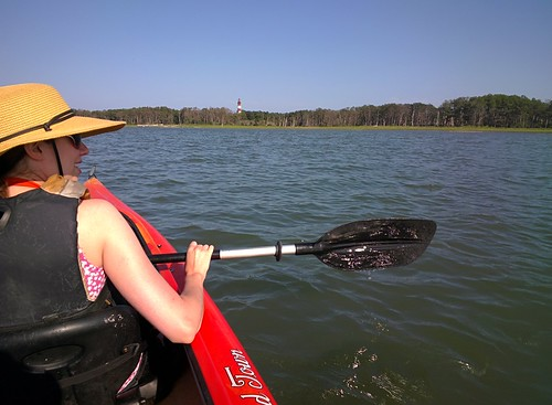 Kayaking around Chincoteague Channel #throughglass