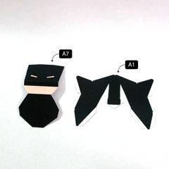 วิธีทำโมเดลกระดาษแบทแมน (Batman Papercraft Model) 001