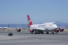 Virgin Atlantic Boeing 747 -400 taxiing, SFO DSC_0250 5K views, 13 faves
