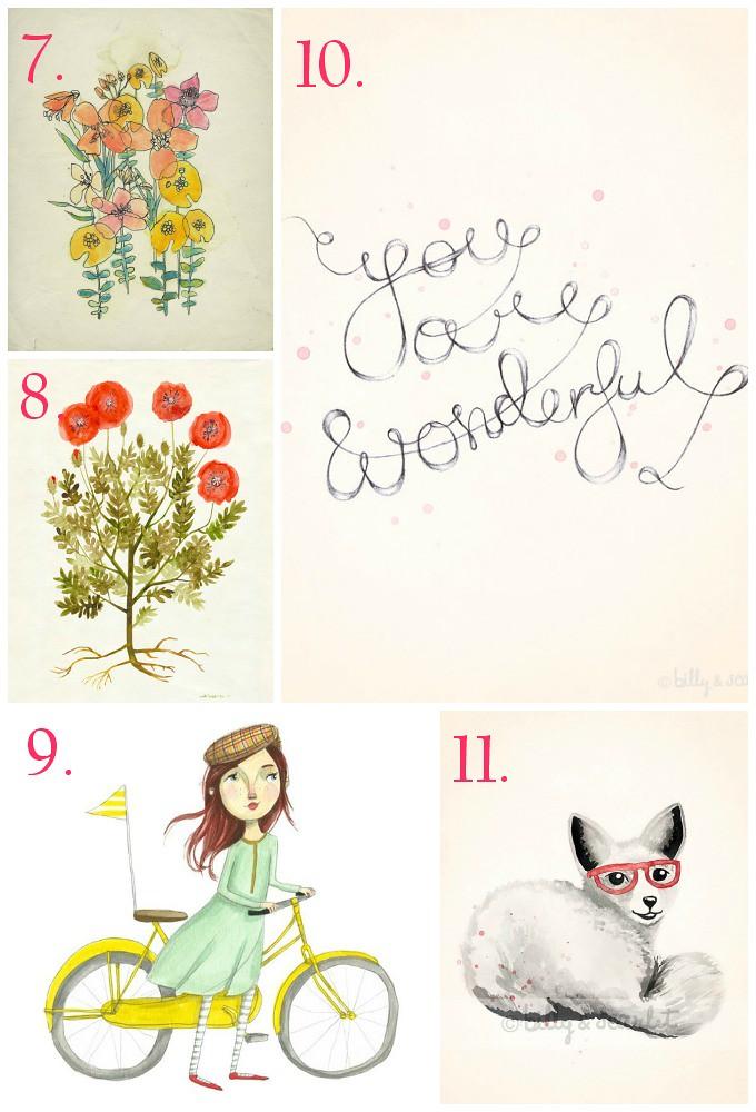 what to hang on your walls via Kristina J blog