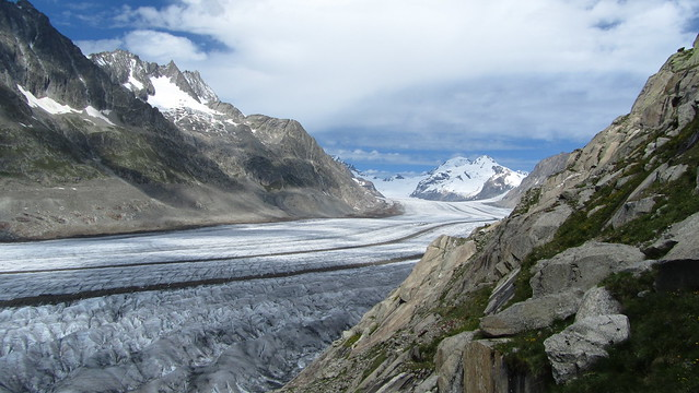 Looking up the Grosse Aletschgletscher from Platta