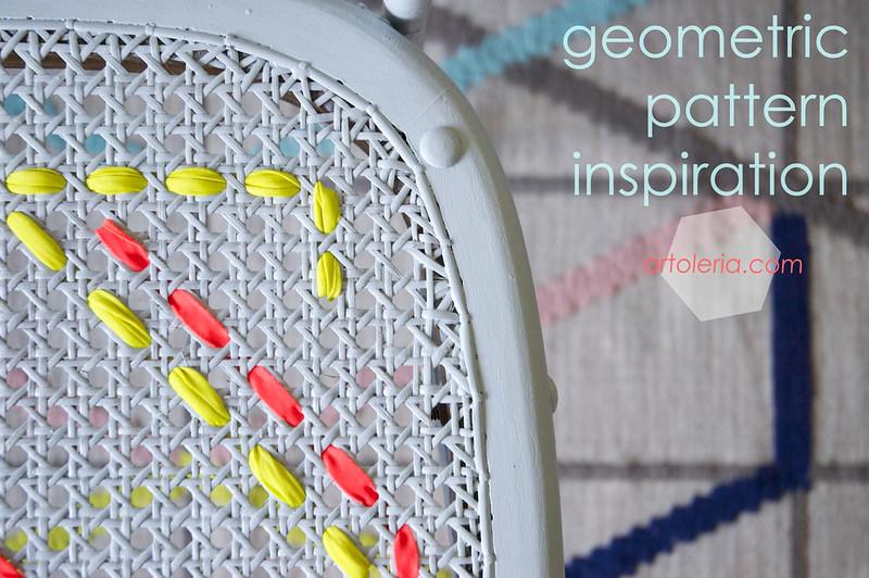 geometrie e colore per una sedia recuperata by Artoleria
