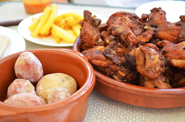 Garlic chicken, Adeje, Tenerife