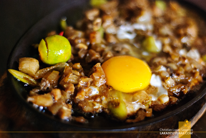 Sizzling Sisig at Ate V's Bistro Grill & Eatery in Alaminos City