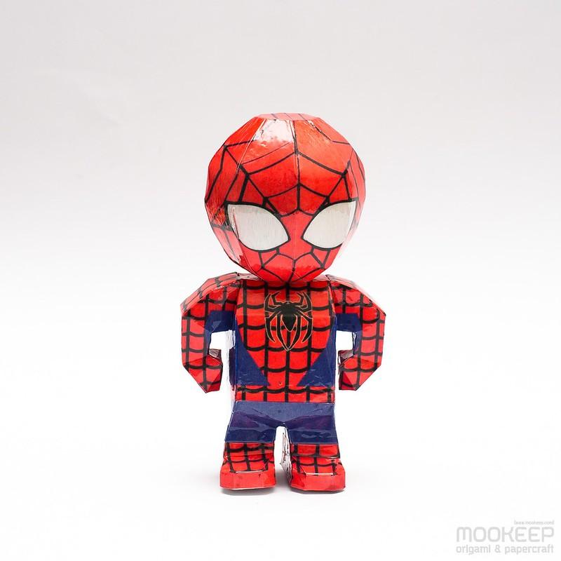 วิธีทำของเล่นโมเดลกระดาษสไปเดอร์แมน (Spiderman Papercraft Model) 005