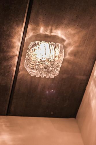 broebelglaslamp van de rommelmarkt