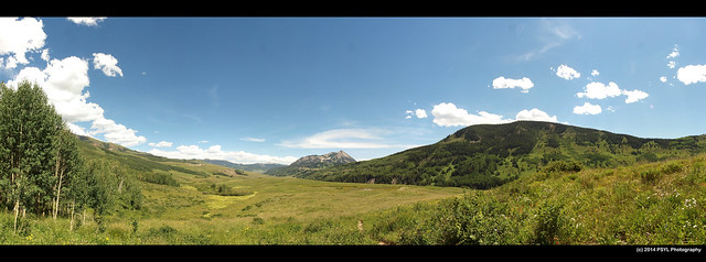 Panoramic view of Gunnison National Forest