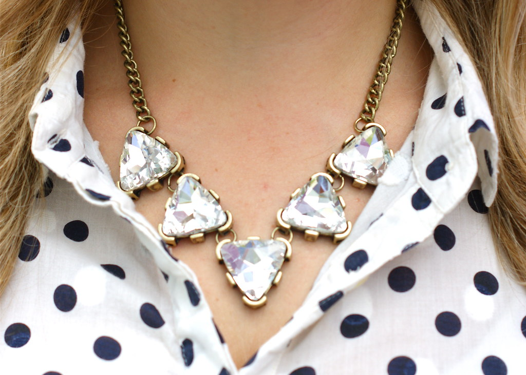 BaubleBar Crystal Triad Collar Necklace