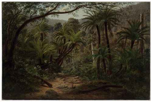 011-Ferntree Gully en la cordillera de Dandenong-1857- Eugen von Guerard- Google Art Project