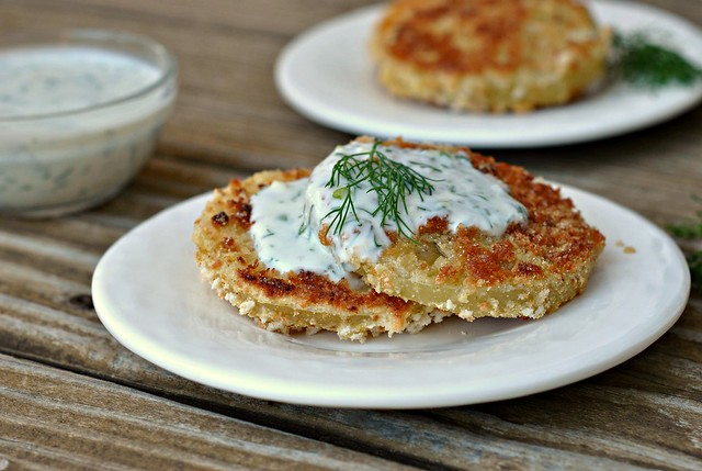 Pickled Fried Green Tomatoes with Buttermilk-Herb Sauce 4