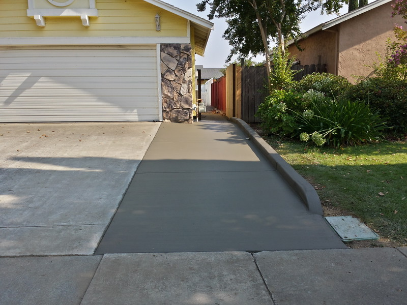 New concrete driveway extension in suisun solano county for New concrete driveway