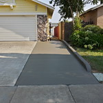 New Concrete Driveway Extension In Suisun