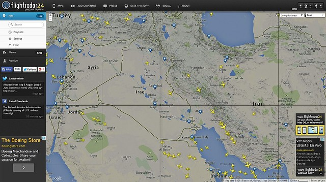 Vuelos en Área de Conflictos  Medio Oriente