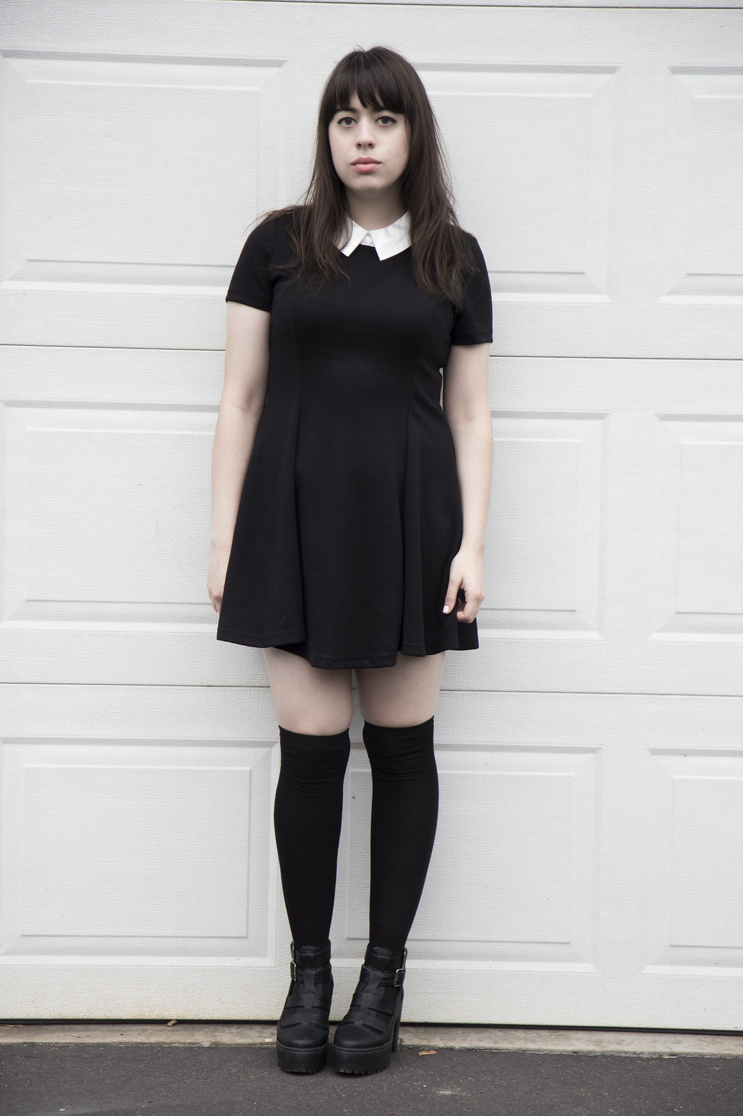 oasap collared dress