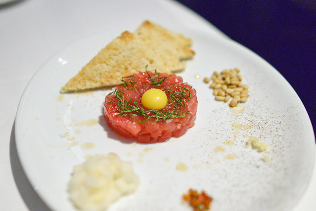 MICHAEL'S TUNA TARTARE ASIAN PEAR, PINE NUTS, SCOTCH BONNET, MINT, SESAME