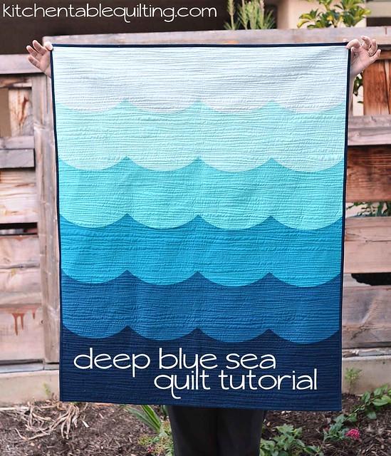 deep blue sea baby quilt tutorial | Kitchen Table Quilting : blue baby quilt - Adamdwight.com