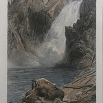 GC266 Thomas Moran; The Upper Yellowstone Falls; 1873; Hand-tinted engraving - From The Graham and Barbara Curtis Collection