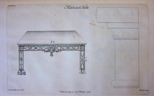 chippendale plate xxxviii sideboard table