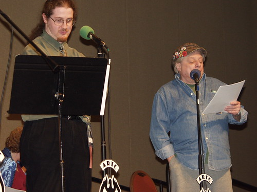 Phil Carter with Harlan Ellison