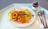 Calamari mit Remoulade & Kartoffelsalat / Calamari with remoulade & potato salad