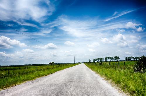 road summer landscape unitedstates florida country hdr kenansville