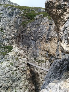 Hängebrücke Pisciadù Klettersteig