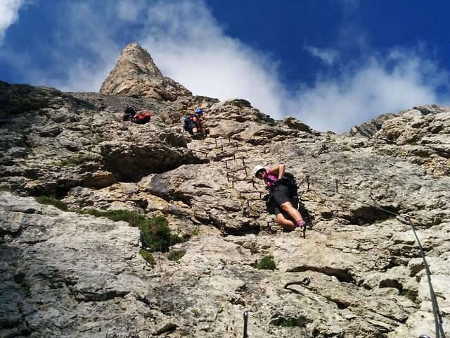 Pisciadù Klettersteig, es bleibt spannend...