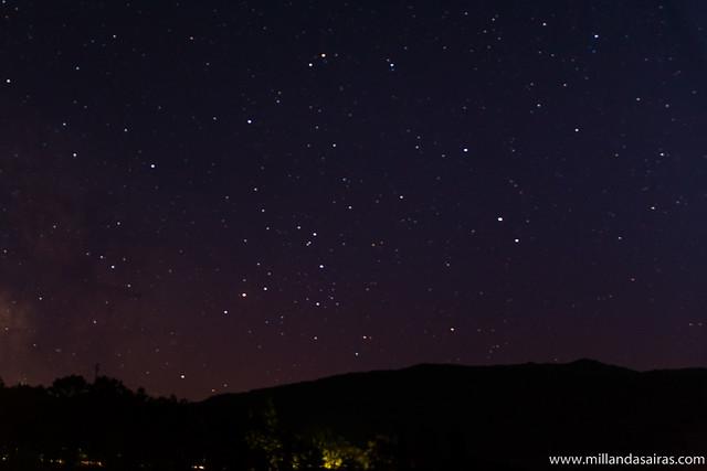 Cielo estrellado desde el lago de Sanabria
