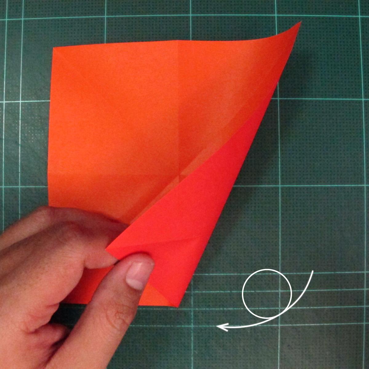 วิธีพับกระดาษเป็นช่อดอกไม้ติดอกเสื้อ (Origami Wedding Chest Flower) 002