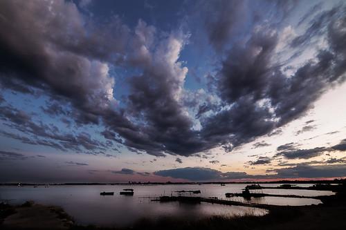 travel sunset italy clouds reflections landscape boat italian nikon europa italia tramonti paesaggi puglia taranto apulia d600 baats