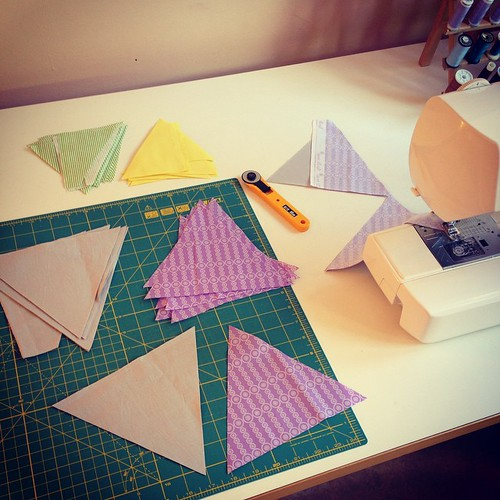 Sewing triangles #angled #indianblanket