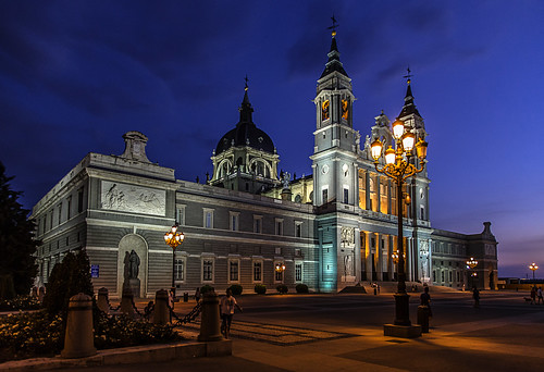 madrid travel blue light sunset sky people color colour saint night clouds canon square outside eos la photo spain foto cathedral image cloudy outdoor almudena mary royal july catedral tourist espana dslr bluelight spania bilde farger mk3 turist archdiocese canonef canonmkiii mklll eos5dmk3 cpphotofinish canonredlable