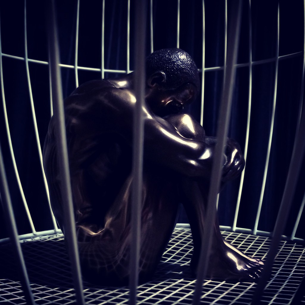 #male #naked #cage #prison #bronze #iphone