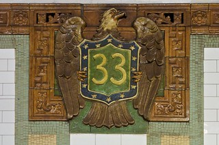 33rd Street Subway Station faience plaque