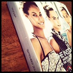It's here!  It's here!  #iwaitallyearforthis #ifeelsorryforthemailman #vogue #septemberissue #myversionofchristmad