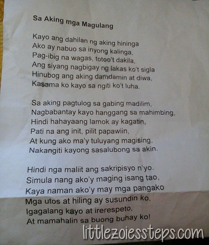 tagalog declamation piece Tagalog declamation piece that is not too longplease help sites or a copy-pasted piece thanks.