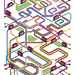 TfL's Year of the Bus - London Takes The Bus - Limited Edition Print - Isometric Pixel Art Illustration by Rod Hunt