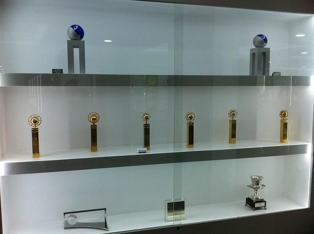 Header of trophies
