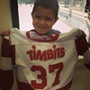 Yep, #TrueCanadian. Hockey season debut for my little man. future #Habs ambitions?