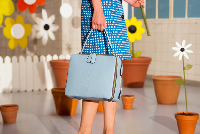 Orla Kiely SS15 blue flower box bag