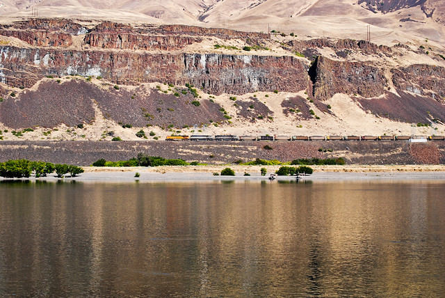 Columbia River Reflections with train