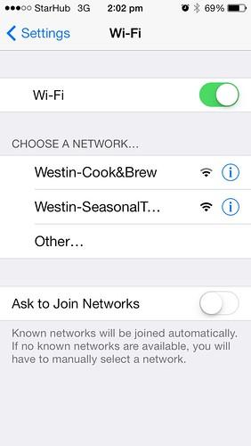 Westin Singapore Wifi