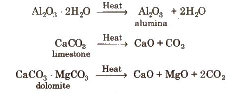 Cbse class 12 chemistry notes principal and processes of isolation calcination is used for metal carbonates and hydroxides and is carried out in reverberatory furnace ccuart Choice Image