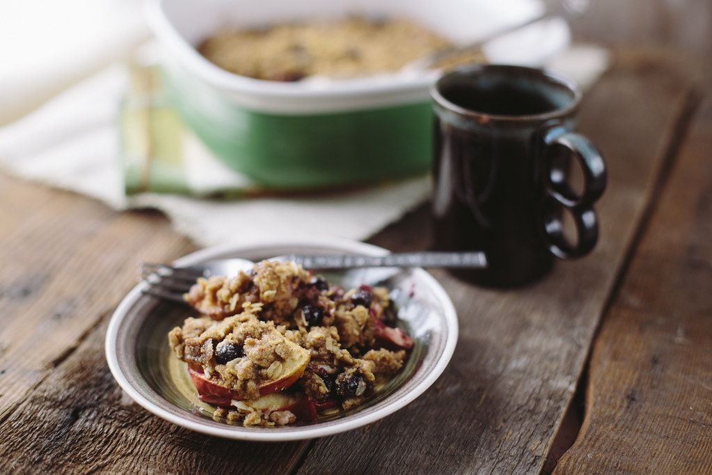Apple Huckleberry Crisp Recipe