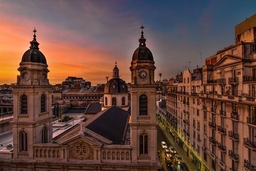 city travel sunset church argentina photography buenosaires cityscape cloudy ocaso balvanera