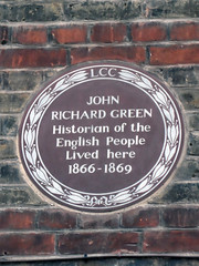 Photo of John Richard Green brown plaque
