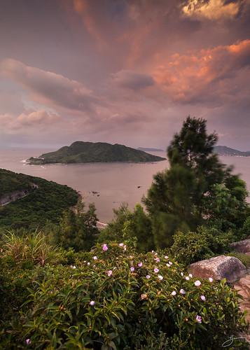 red sky canon landscape hongkong 5dmarkii